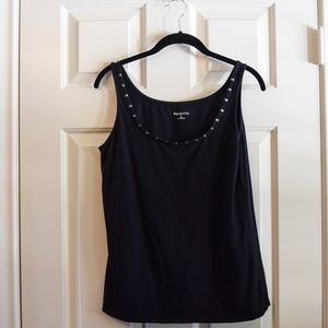 (SOLD) Relativity Black Pyramid Stud Tank Top